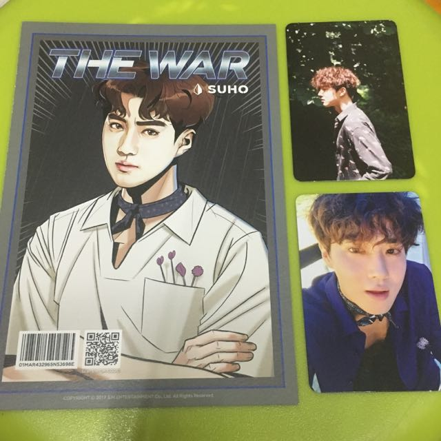 EXO THE WAR KOKOBOP SUHO Photocard Set