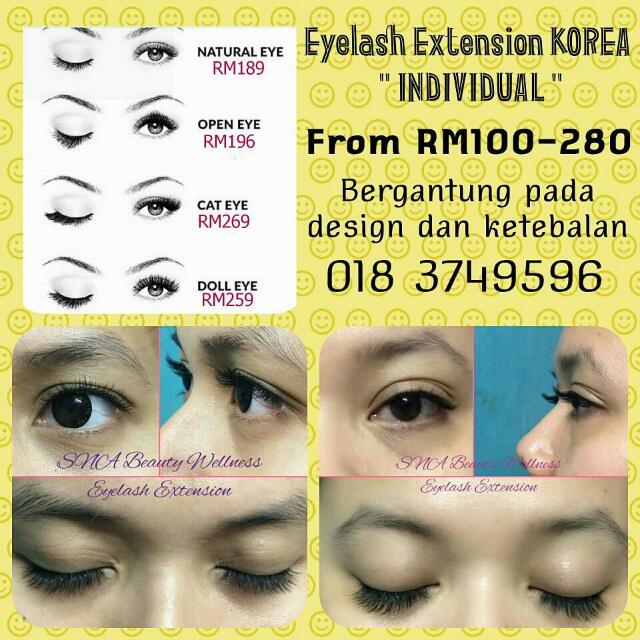 Eyelash Extension Korea Health Beauty Perfumes Nail Care