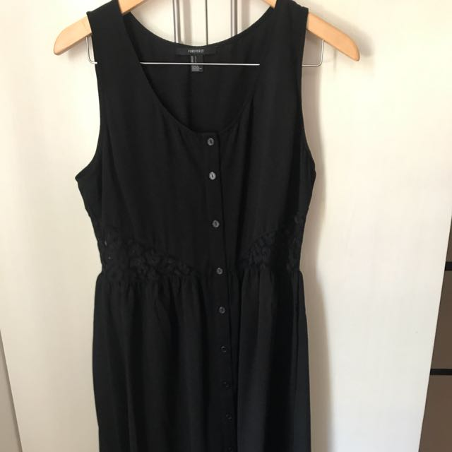 Forever 21 Black High To Low Dress