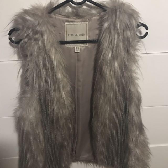 Forever New fur vest