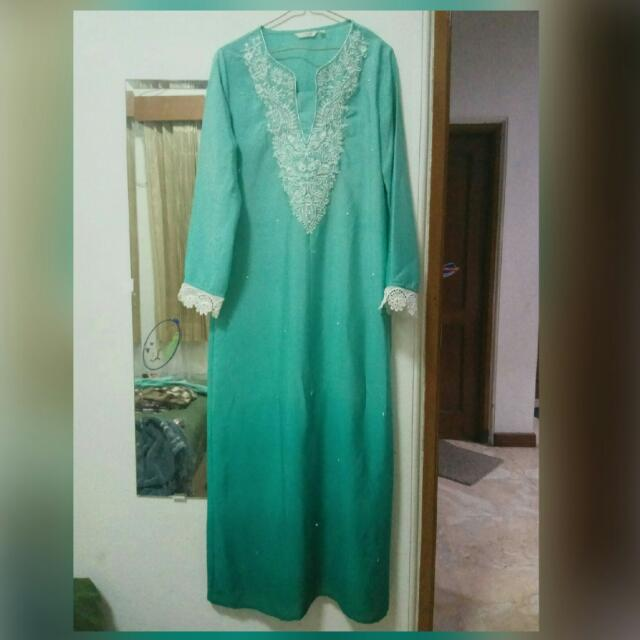 Gamis Hijau Tosca Women S Fashion Women S Clothes On Carousell