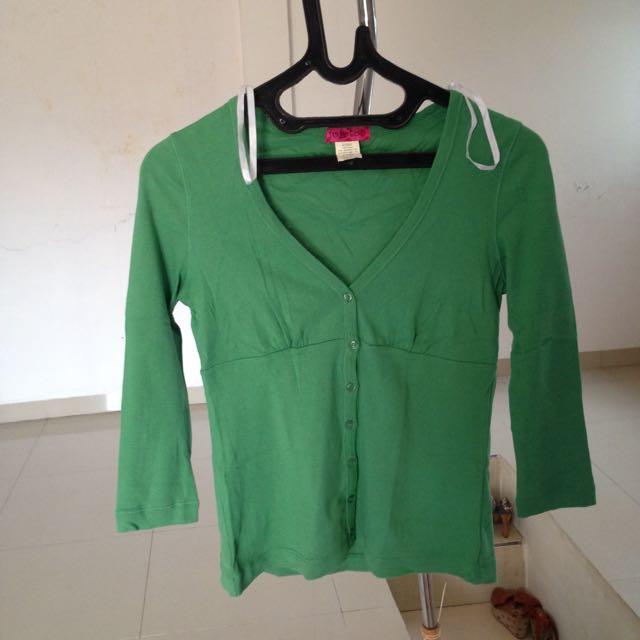 Green Woman Top