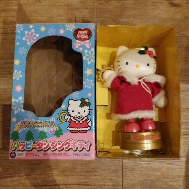 日本正版hello Kitty會跳舞搖鈴五首歌會搖擺大型聖誕公仔娃娃