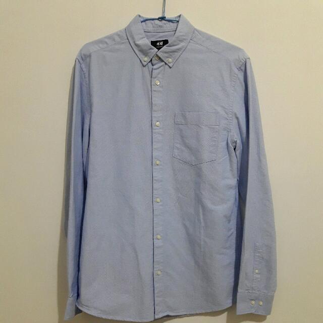 H&M 牛津襯衫 長袖襯衫