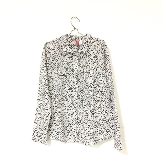H&M Polka Black White