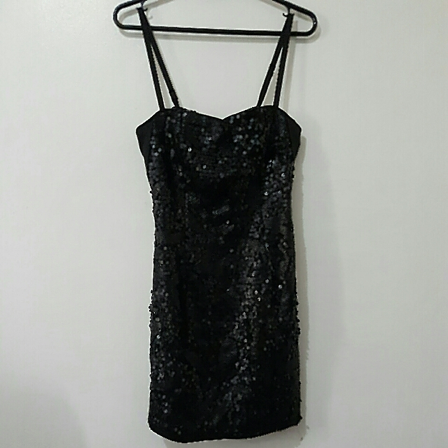 H&M Sequined Little Black Dress (small)