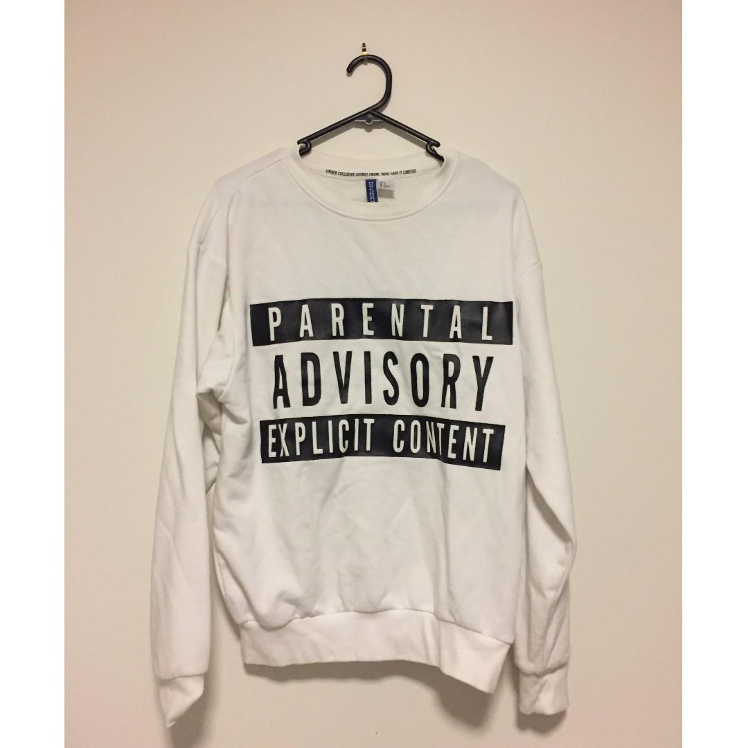 HnM Parental Advisory Sweater Size S