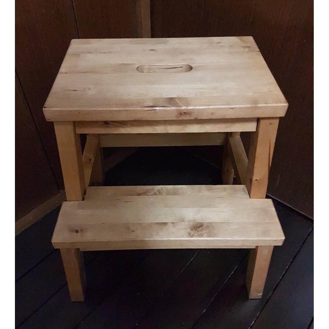 Excellent Ikea Bekvam Step Stool Birch On Carousell Machost Co Dining Chair Design Ideas Machostcouk