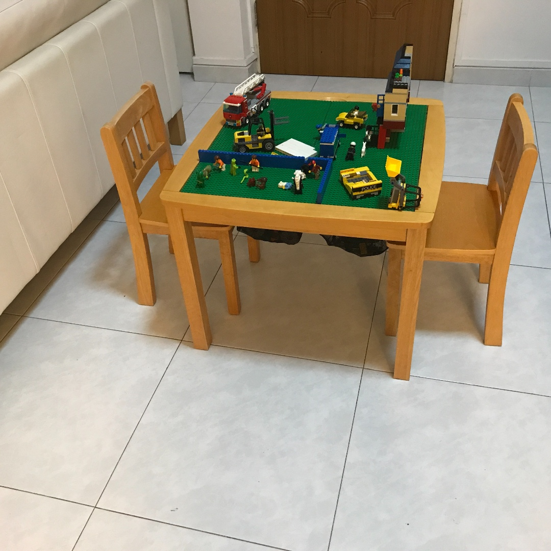 Lego Imaginarium Flip Top Wooden Table With Storage Bins And & Wooden Lego Table - Wooden Designs