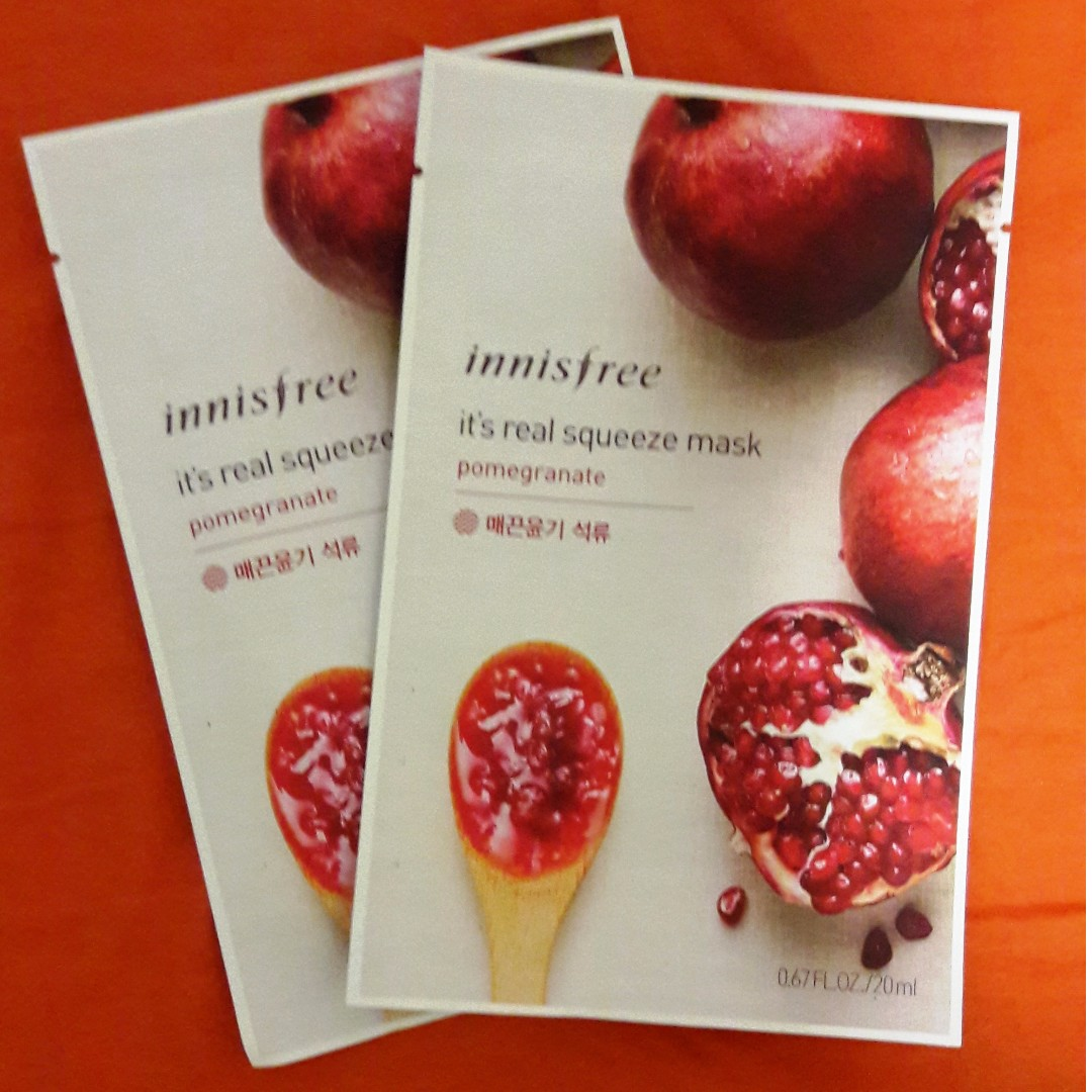 Innisfree It's Real Squeeze Mask Pomegranate