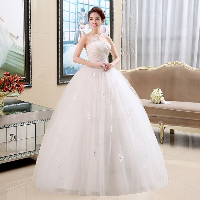 Instock SET Tube WEDDING GOWN, Women\'s Fashion, Clothes, Dresses ...