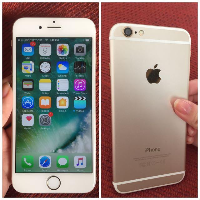 iPhone 6 Gold 128 GB ICLOUD CLEAN Batangan