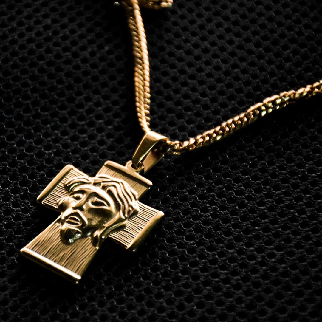 Jesus Face Cross Necklace