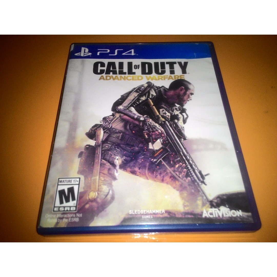 Kaset Bd Ps4 Call Of Duty Advance Warfare Used Video Game Konsol Watch Dogs Reg 1 Photo