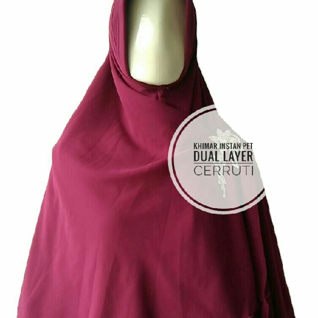 Khimar Instan Pet Dua Layer Ceruti