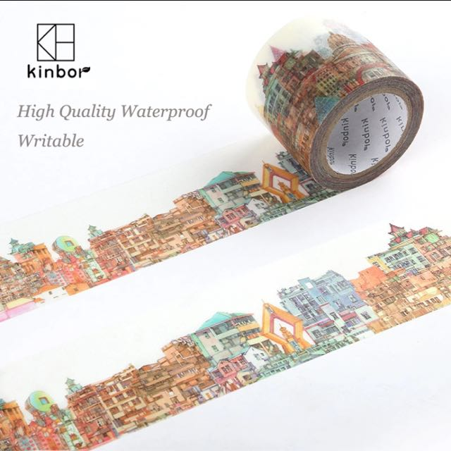 Kinbor Buildings Pattern Japanese Washi Tape