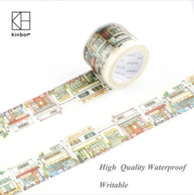 Kinbor Street View Japanese Washi Tape