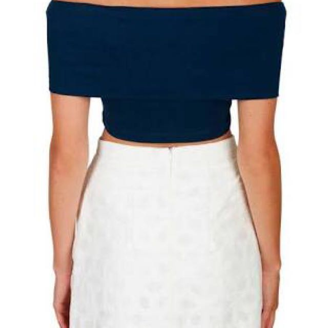 Kookai Rio Off The Shoulder Crop