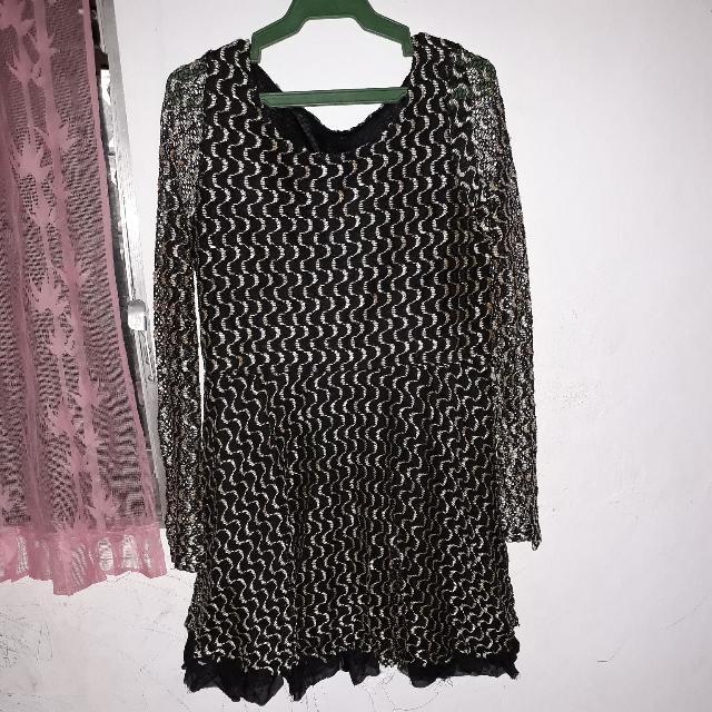 Lace Longsleeves Dress