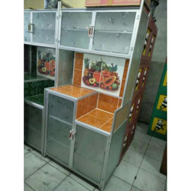 Lemari Rak Piring 2 Pintu Mc Standar Keramik Aluminium Home