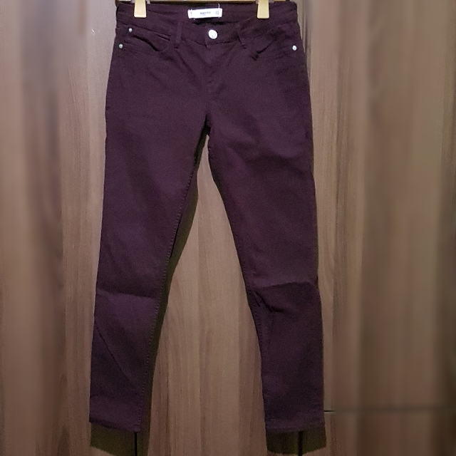 Mango Casual Maroon Pants