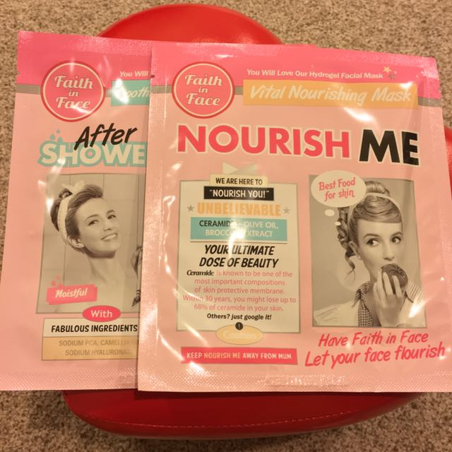 (NEW) Faith In Face Nourish And Soothing/Moisturising Face Mask Pack Of 2