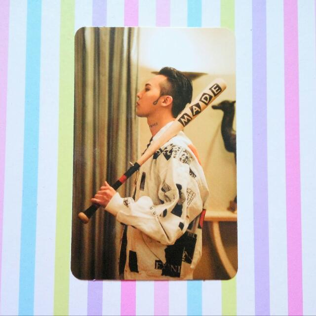 [Official Photocard] BIGBANG10 The Movie Bigbang Made Blu-Ray - G-Dragon