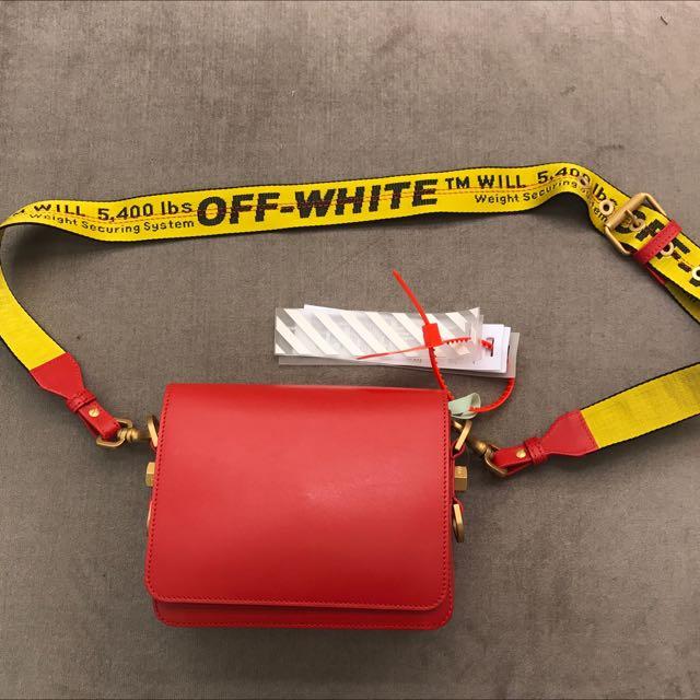 Off-white 全新真品 紅色 肩背包 斜背