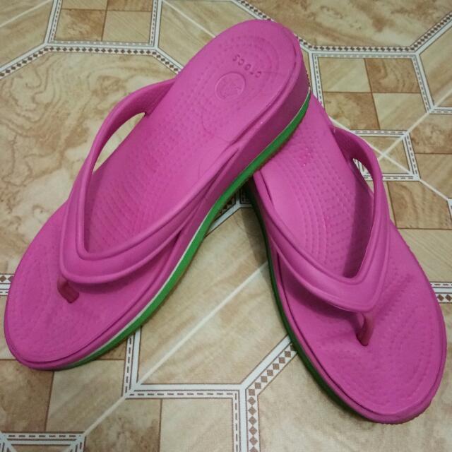 """original crocs wedge pink slipper 6"""""""