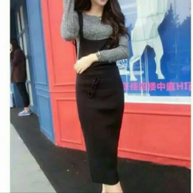 Overall Knit Black
