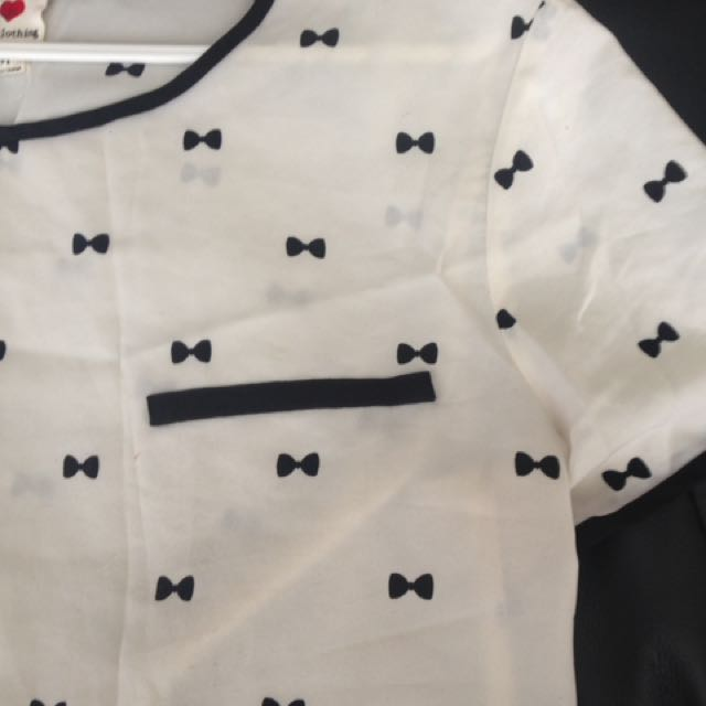 Patterned White T