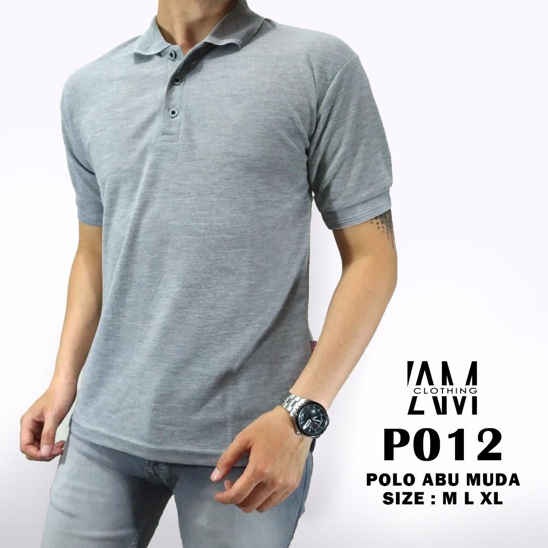 Polo Shirt Unisex Abu Misty Muda Kaos Polos Baju Kerah Berkerah Pria Wanita Bahan Cotton Olshop Fashion On Carousell