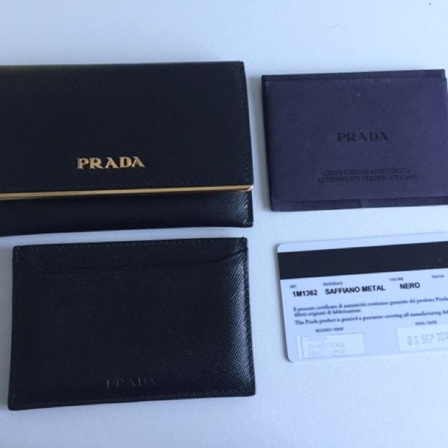 Prada Wallet And Card Holder