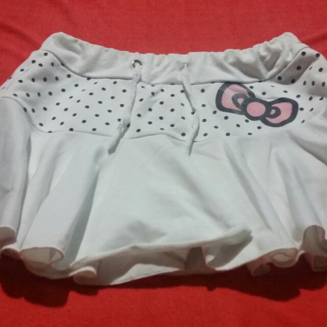 Pre-loved White Hello Kitty Skort
