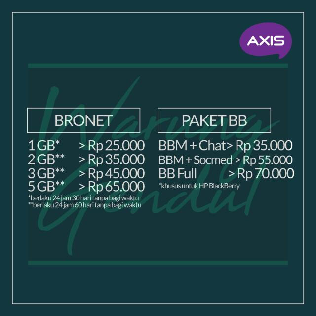 Pulsa Paket Data Axis Murah!!