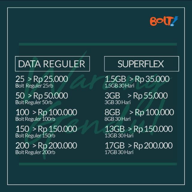 Pulsa Paket Data Bolt Murah!!