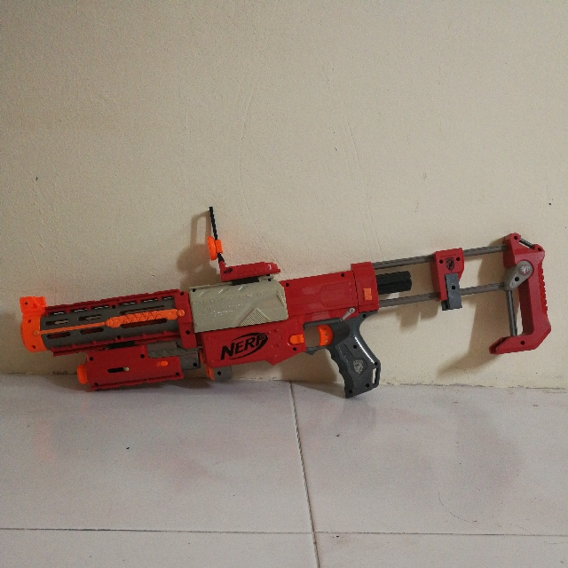 Red Nerf Recon Toys Games Bricks Figurines On Carousell