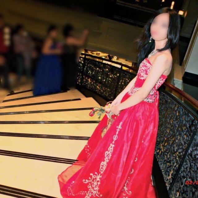 Red Promenade Dress