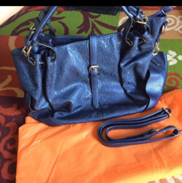 REPRICE Croco import bag blue