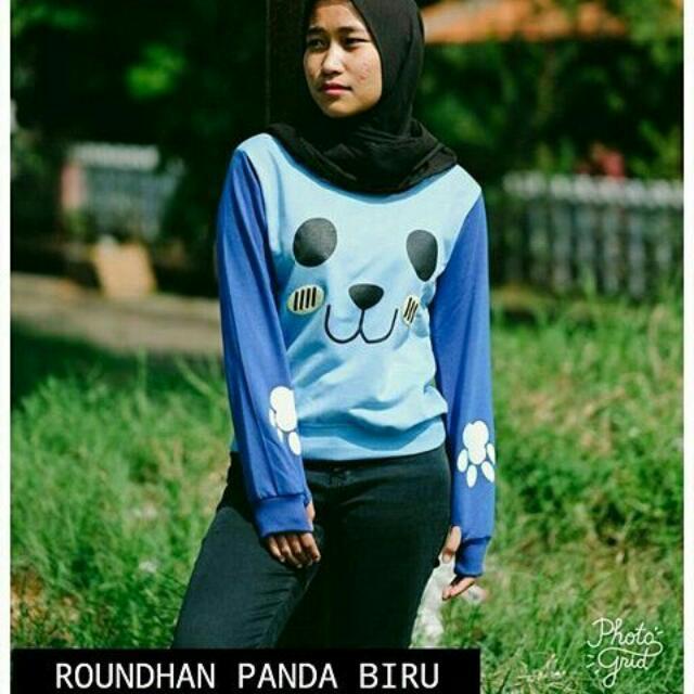 Roundhand Panda Biru (Realpict)