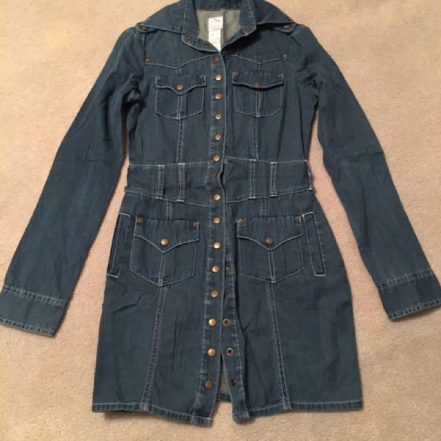 Sass And Bide Denim Dress Size 38 Fits AU8