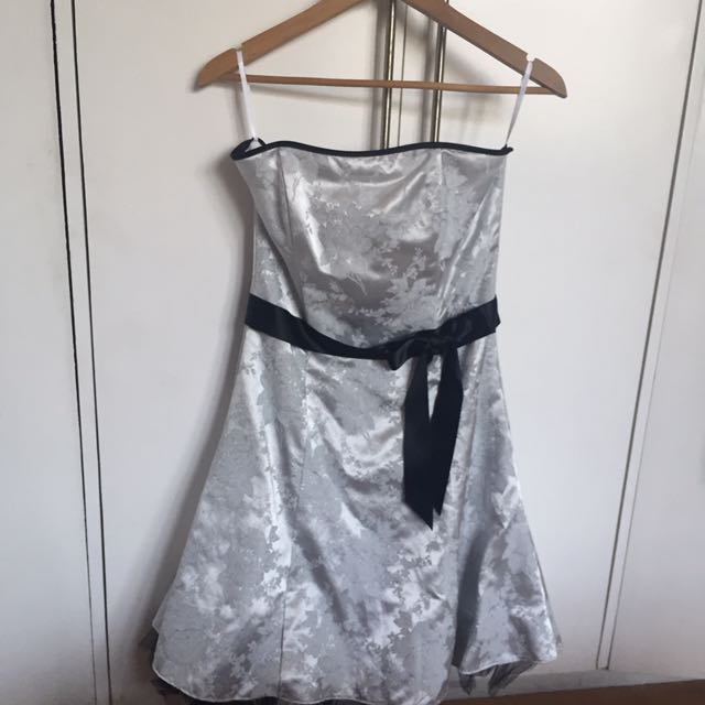 Silver Floral Cocktail Dress