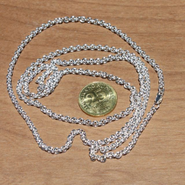 Sterling Silver .925 3.2MM Cable Chain 24""