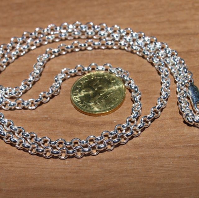Sterling Silver .925  3.9MM ROLO Chain 24""