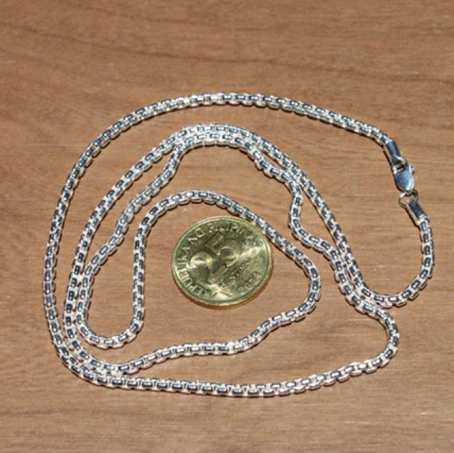 Sterling Silver .925 Chain 2.6MM Rounded Box 24""