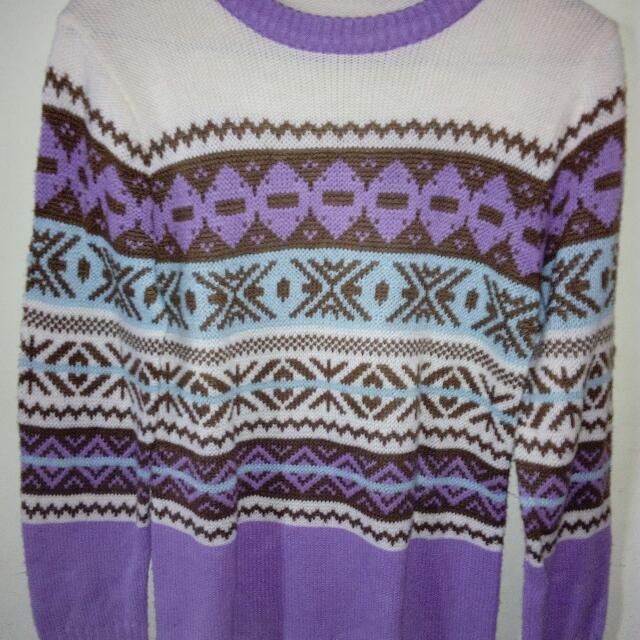 sweater rajut tribal