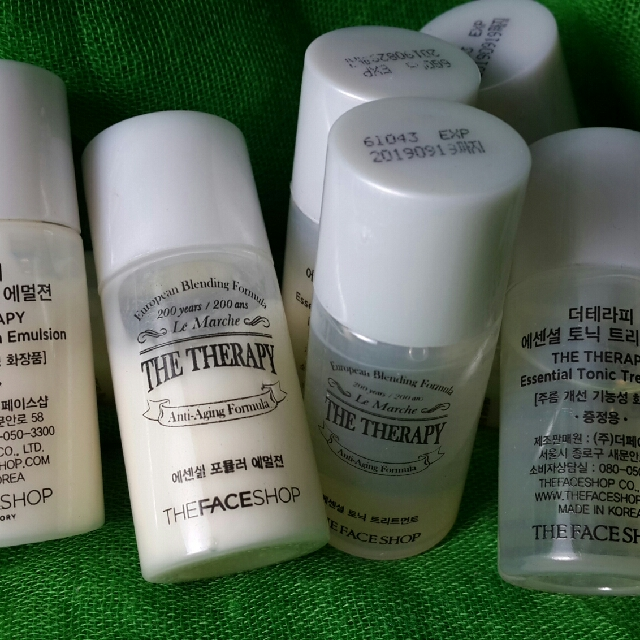THE FACESHOP Therapy Toner and Emulsion (sample set)