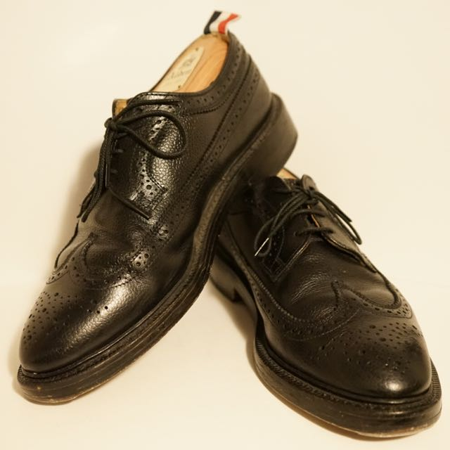 19ba4c0c4650c3 【Thom Browne】Classic Long Wingtip Brogue In Black Pebble Grain Leather on  Carousell