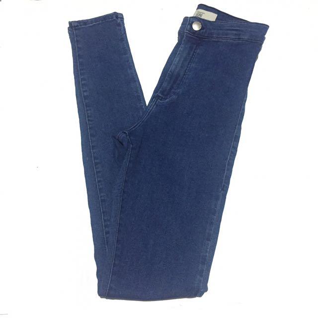 Topshop Dark Blue Joni Jeans