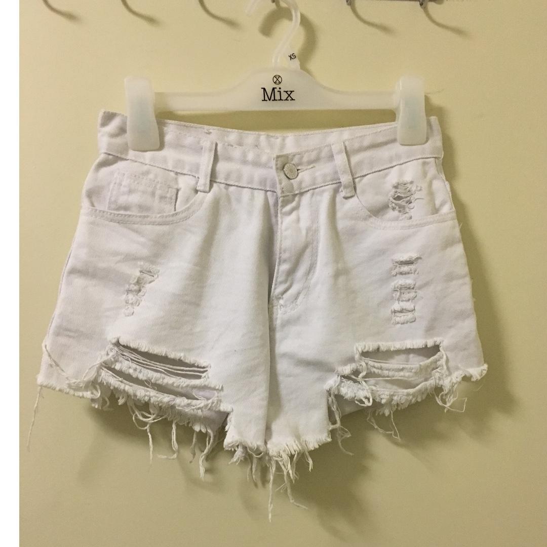 White Shorts Jeans